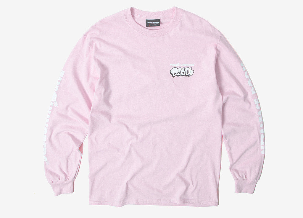 The Hundreds x DOOM Mask L/S T Shirt - Pink