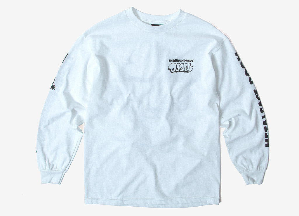 The Hundreds x MF DOOM Mask L/S T Shirt - White