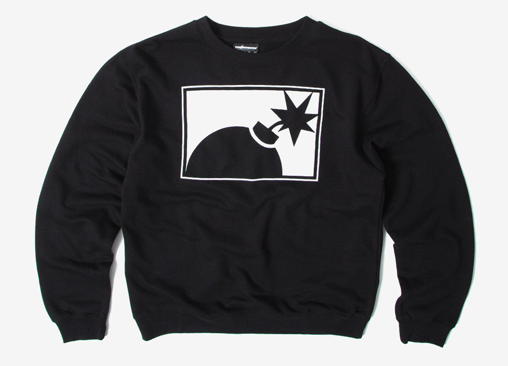 The Hundreds Forever Half Bomb Crewneck Sweatshirt - Black