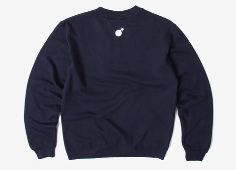 The Hundreds Forever Half Bomb Crewneck Sweatshirt - Navy