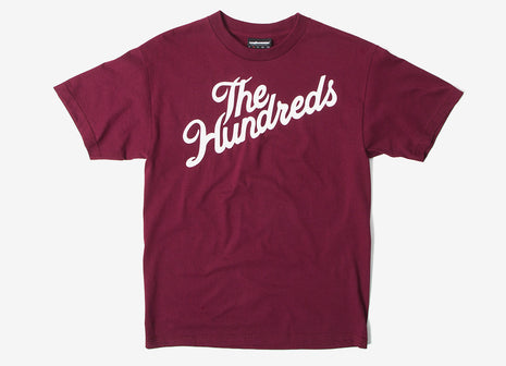 The Hundreds Forever Slant T Shirt - Burgundy