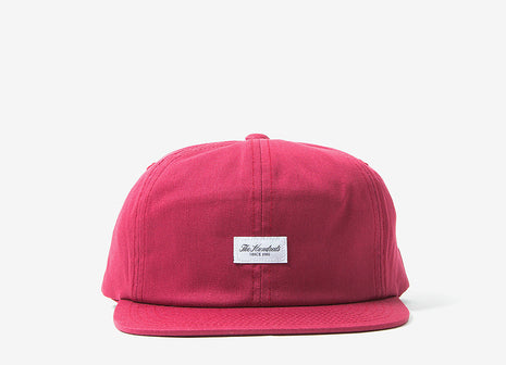 The Hundreds Script Snapback Cap - Burgundy