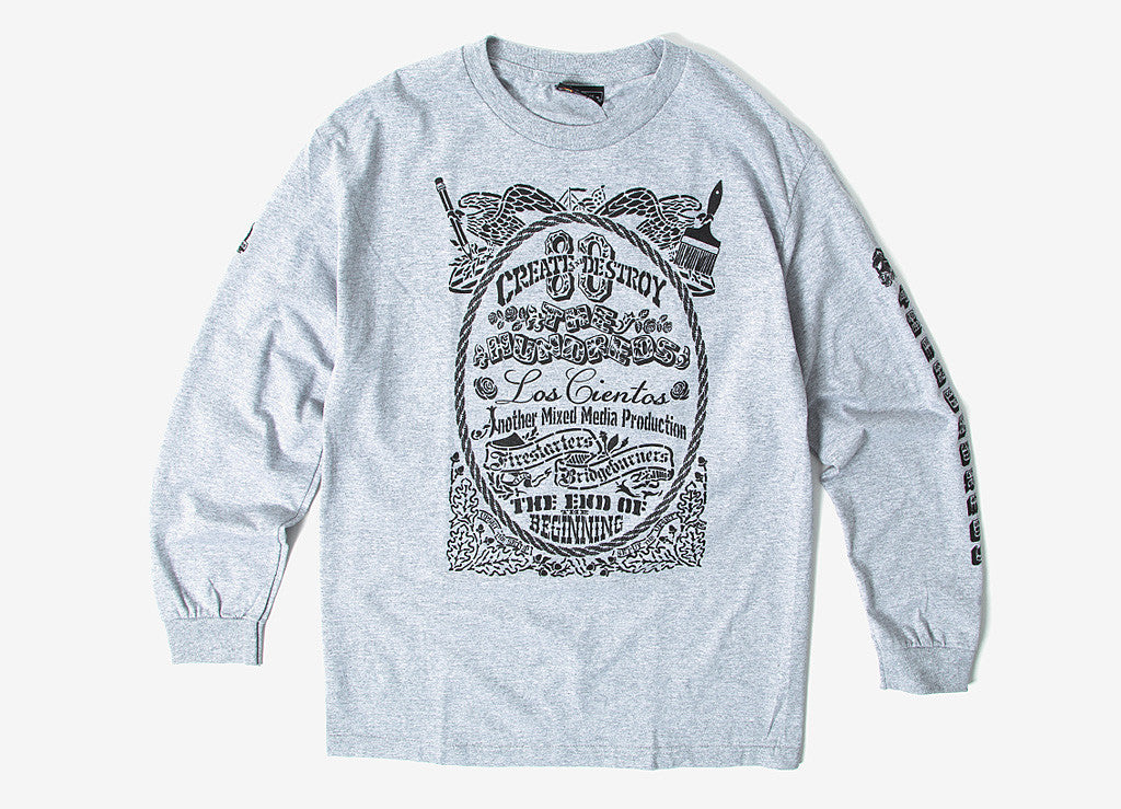 The Hundreds Stencil LS T Shirt - Athletic Heather