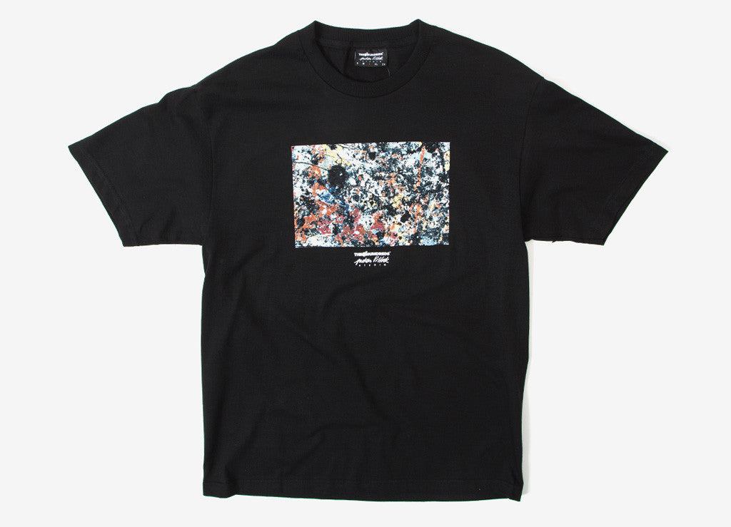 The Hundreds x Jackson Pollock Splatter T Shirt - Black