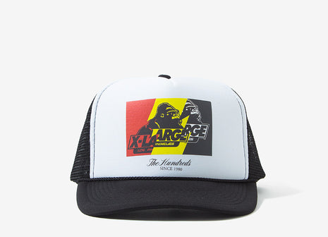 The Hundreds x XLarge Wildfire-X Trucker Cap - White/Black