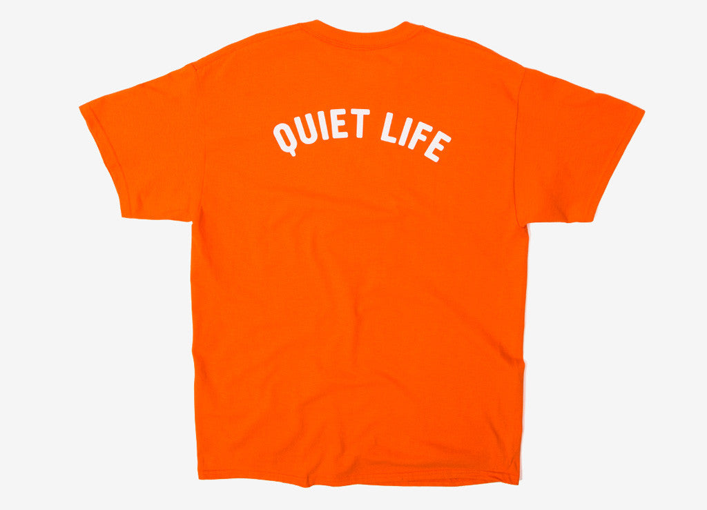 The Quiet Life Sssh T Shirt - Orange