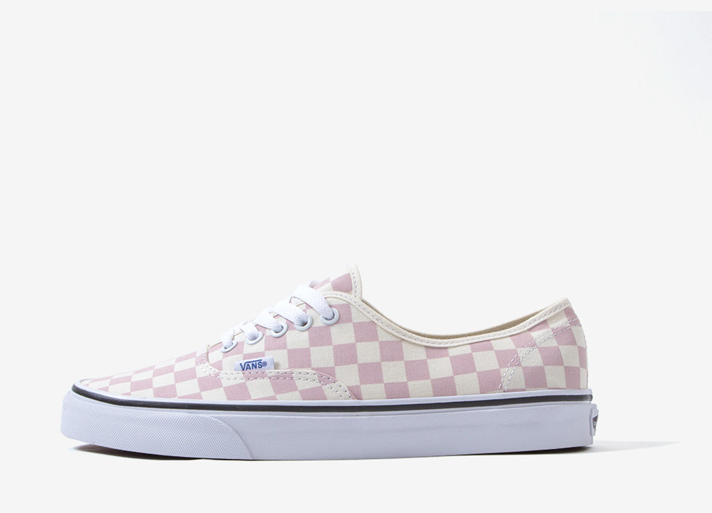 bcaf145f44 Vans Authentic  Checkerboard  Shoes - Chalk Pink
