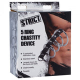 5 Ring Chastity Device
