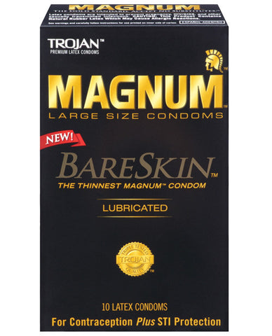 New Trojan Magnum Bareskin Condoms - Box Of 10