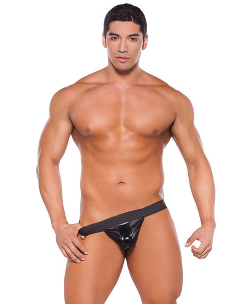 Zeus Wet Look Brief Black O-s