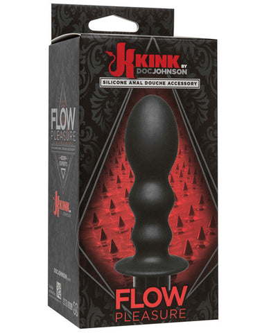 Kink Flow Silicone Anal Douche Accessory Pleasure - Black