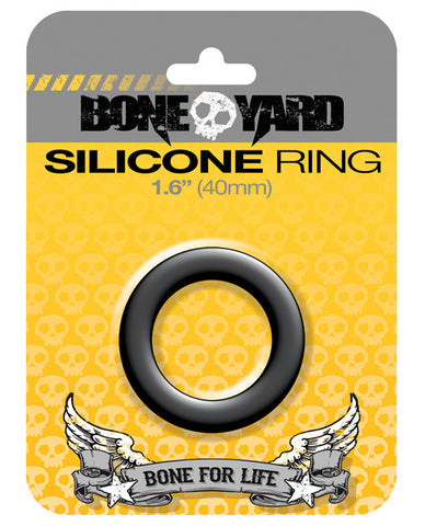 "Boneyard 1.6"" Silicone Ring - Black"