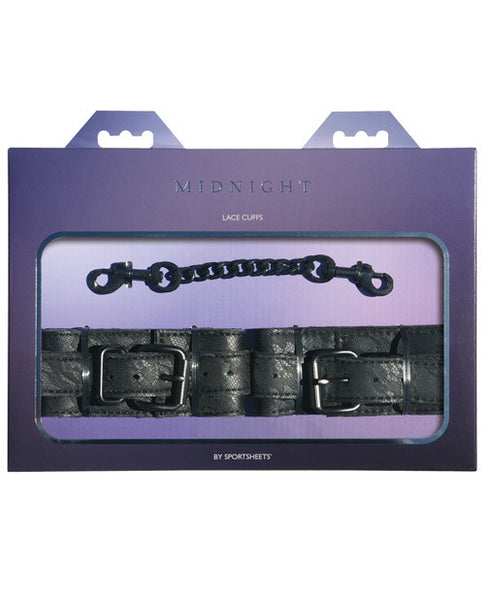 Midnight By Sportsheets Lace Cuffs - Black