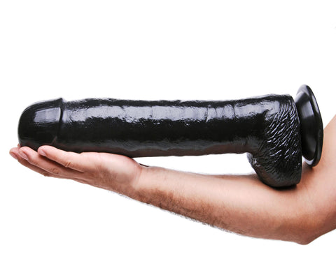 The Black Destroyer Huge 16.5 Inch Suction Cup Dildo