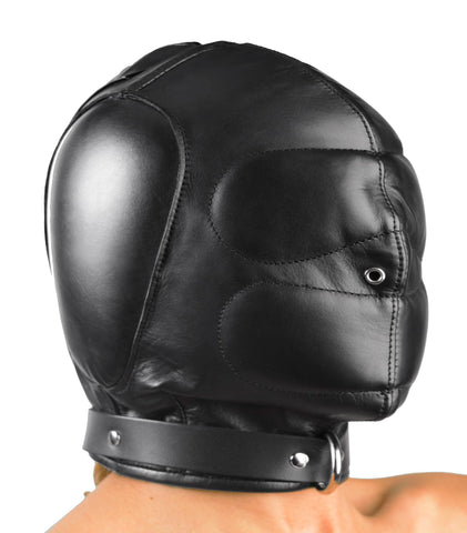 Padded Leather Hood - MediumLarge