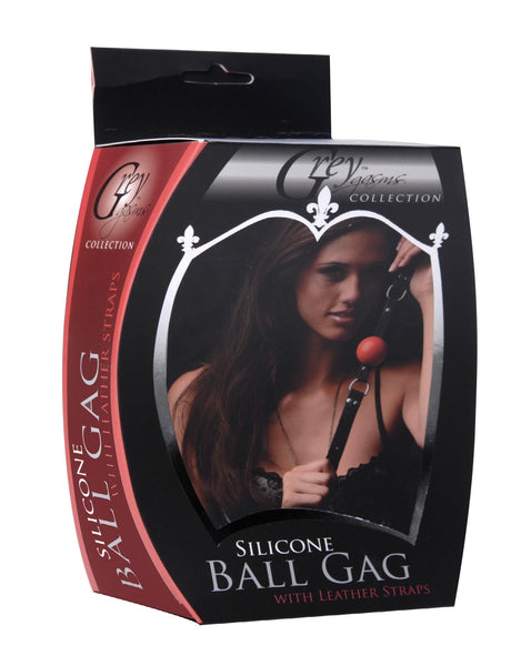 Silicone Ball Gag with Leather Straps