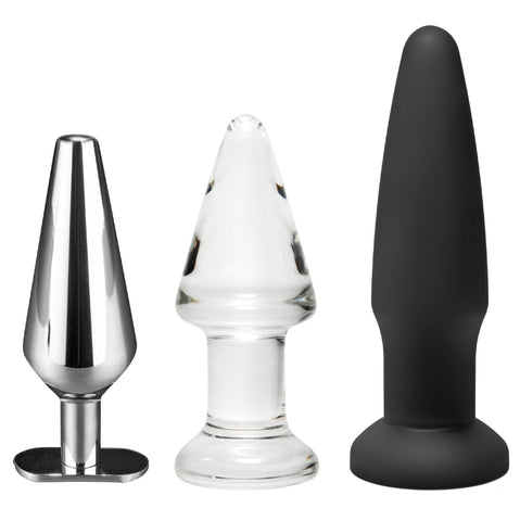 Intro to Toy Materials 3 Piece Anal Plug Kit