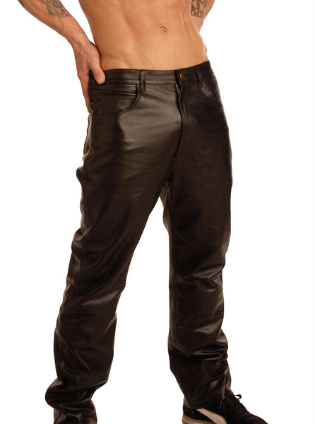 Mens Leather Pants- 38 Inch Waist