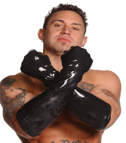 Mens LargeElbow-Length Gloves