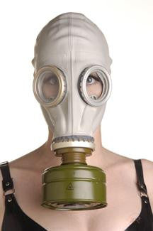 Rubber Gas Mask Hood