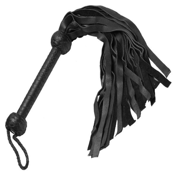 Strict Leather Flogger- Black