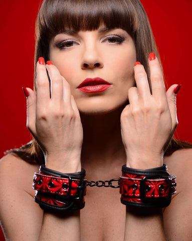 Bondage Gear - Crimson Tied Embossed Wrist Cuffs