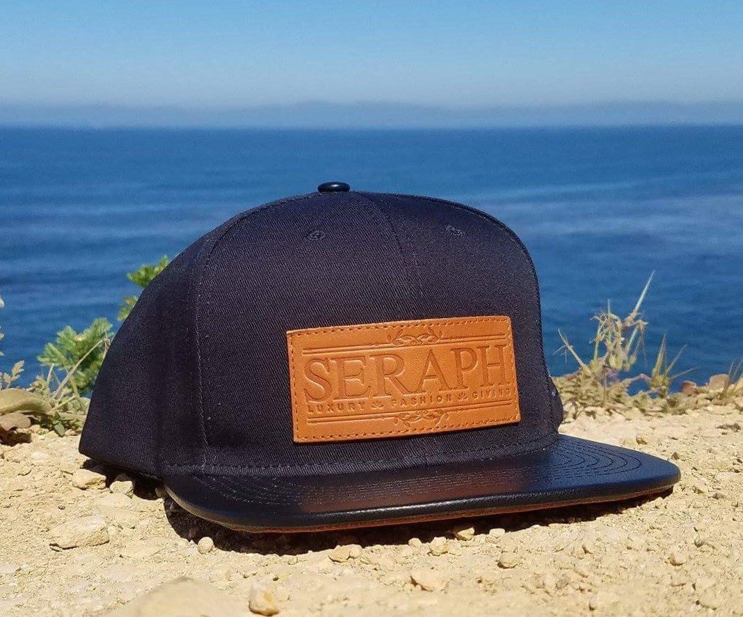 Brown Label Hat, Black Cotton American Twill