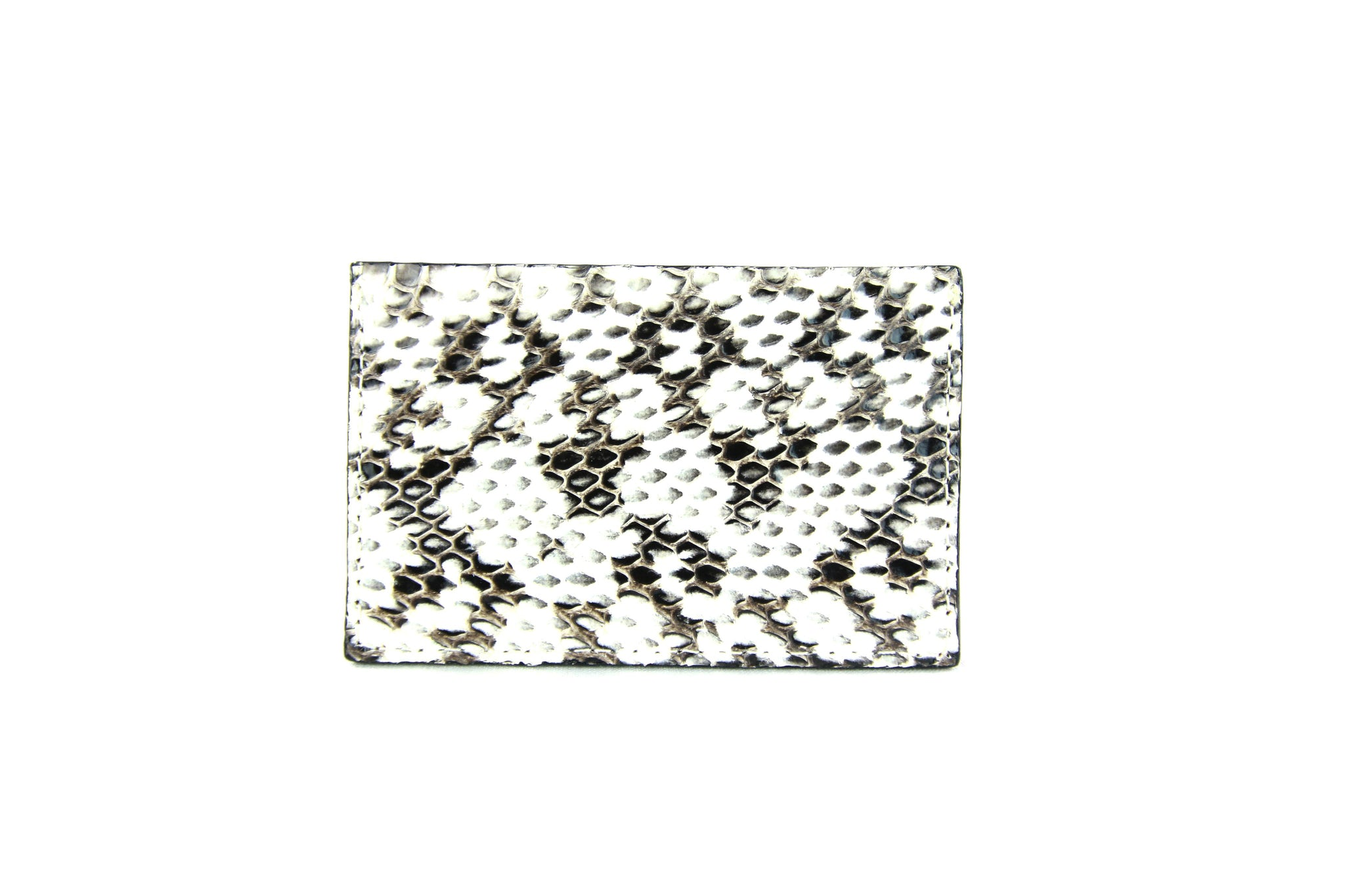 Wallet, White & Black Viper Snake, Italian leather
