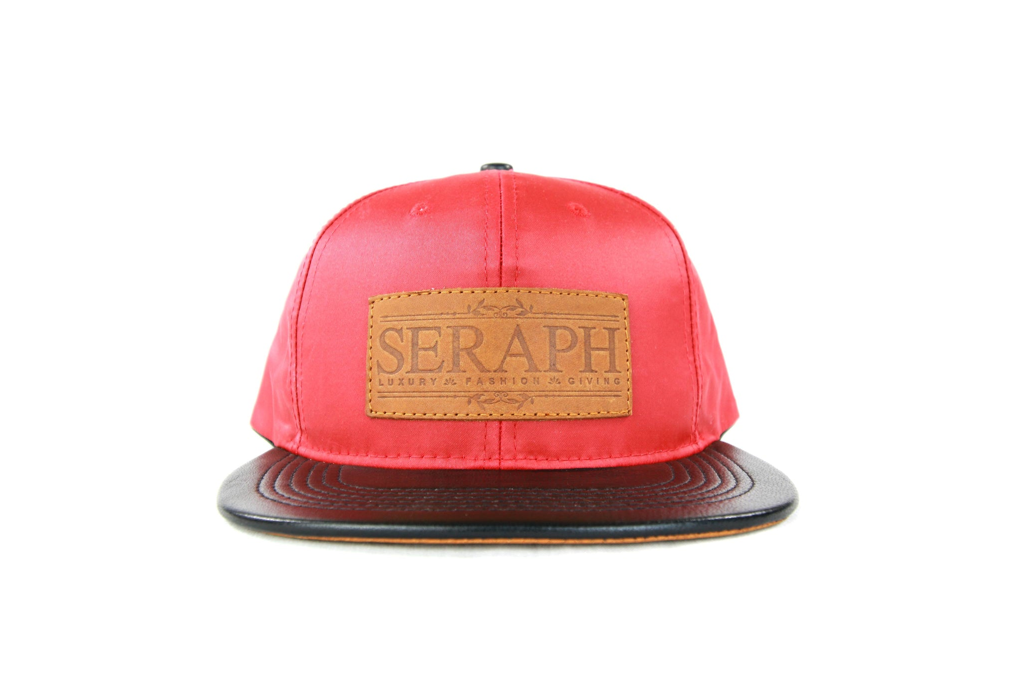 Brown Label Hat, Red Water Resistant & Italian leather