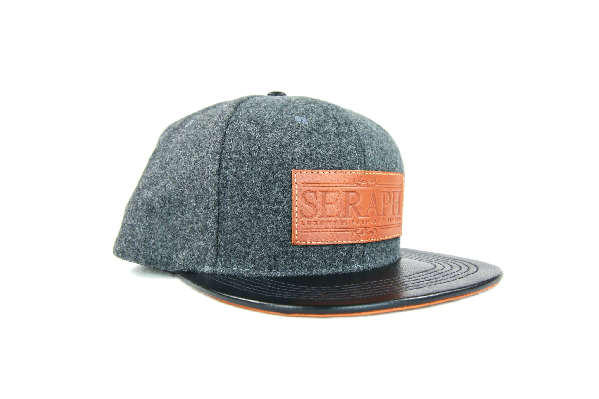 Brown Label Hat, Light Gray 100% Italian Wool