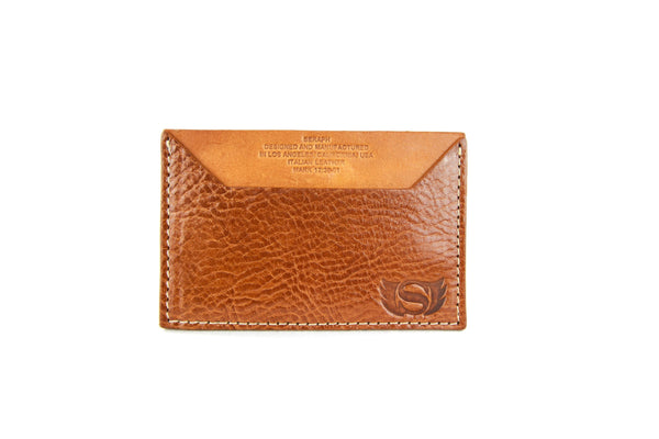 Wallet, Emblem Emboss, Cream Italian leather