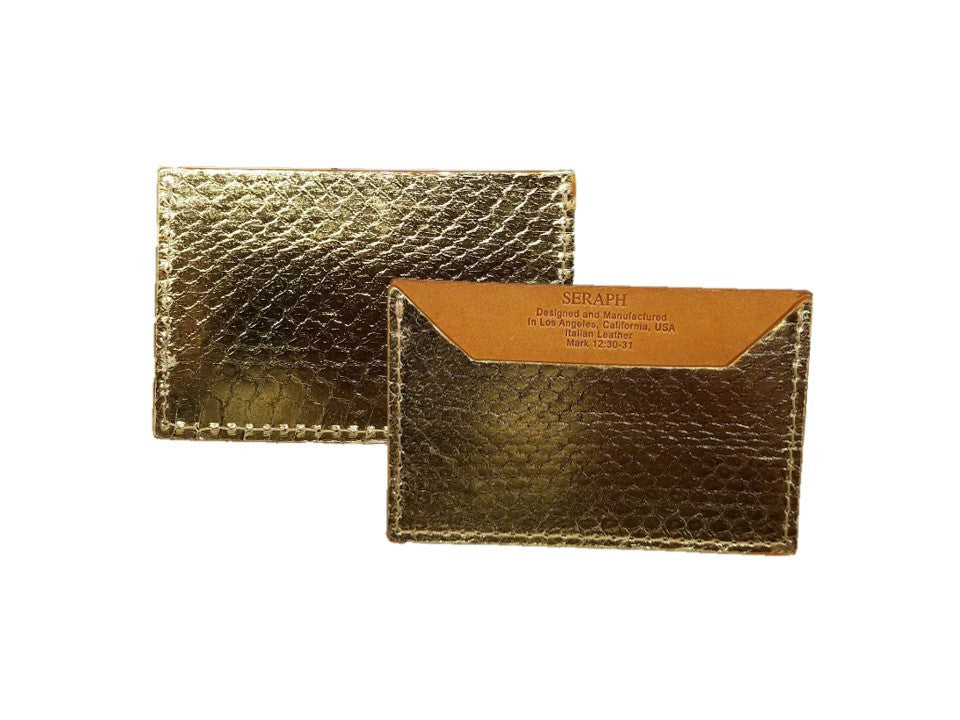 Wallet, Gold Viper Snake, Italian leather