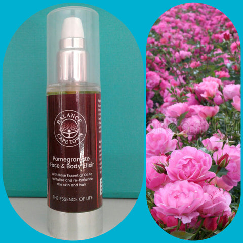 BALANCE Skincare Healing Collection - Pomegranate and Rose face and body Elixir