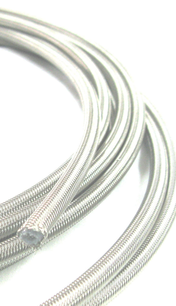 Stainless Steel Braided P.T.F.E  Hose  , Bulk Length Per Foot - Performance Plumbing Components
