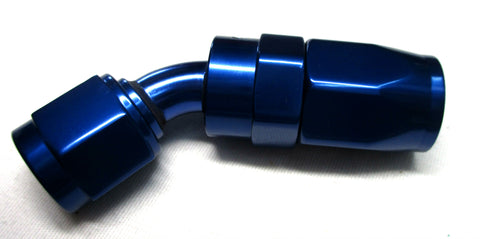Show Polished ALL Blue Re-Usable  Swivel Hose Ends