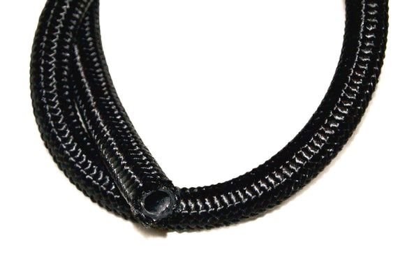 Black Nylon CPE 30r9 Synthetic Rubber,with Steel Braid,Ethanol /E85 Compatible sold per ft - Performance Plumbing Components