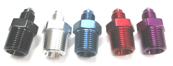 Show Polished Anodized Aluminum Straight Adapter Nipples - Performance Plumbing Components