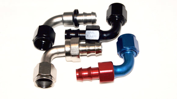 Push Lock 90 Degree Hose End - Performance Plumbing Components