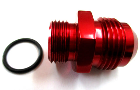 Red Show Polished  O-Ring Boss ORB  to AN Male Flare Straight  Aluminum Fittings