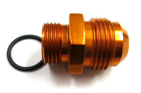 Gold Show Polished  O-Ring Boss ORB  to AN Male Flare Straight  Aluminum Fittings