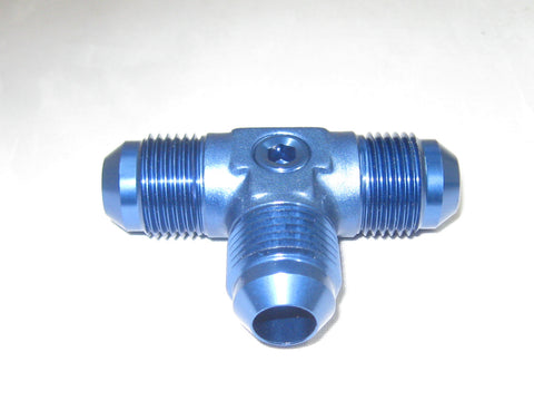 Male Flare AN Tee Fittings with Pressure Port - Performance Plumbing Components