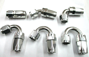 Show Polished Sim Chrome  Swivel Hose Ends - Performance Plumbing Components