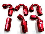 Show Polished Red  Swivel Hose Ends - Performance Plumbing Components