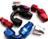 PTFE  Polished Swivel Hose Ends Aluminum