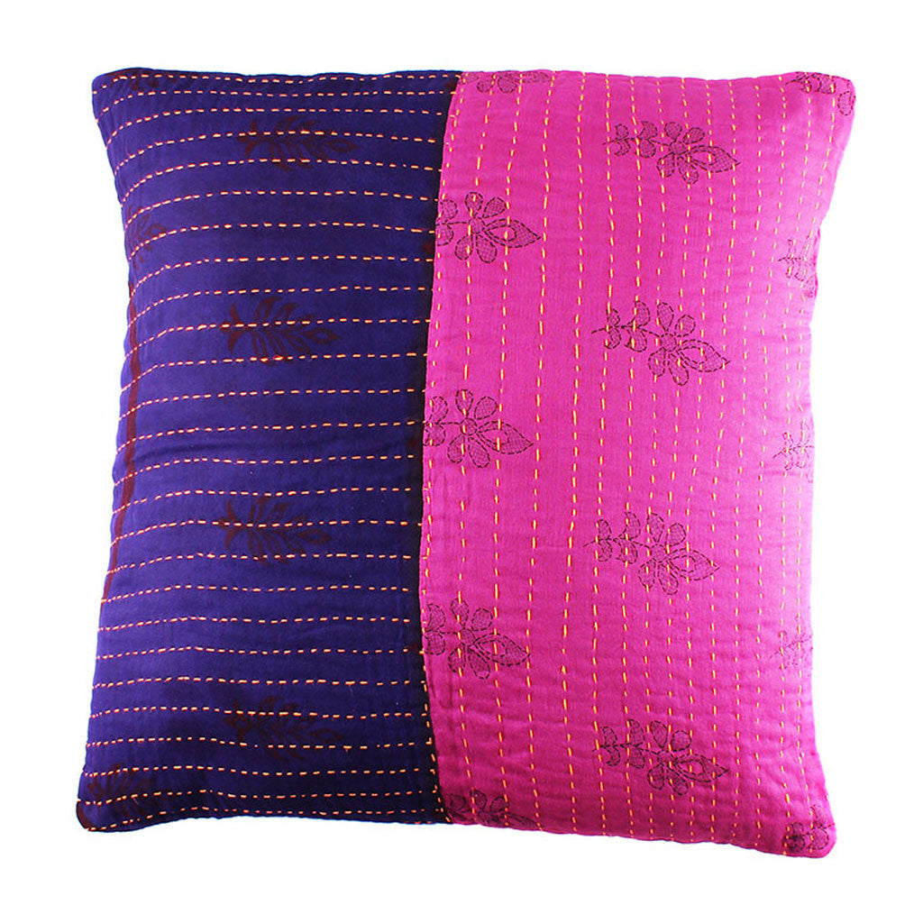 Fuchsia and Violet Pillow Cover