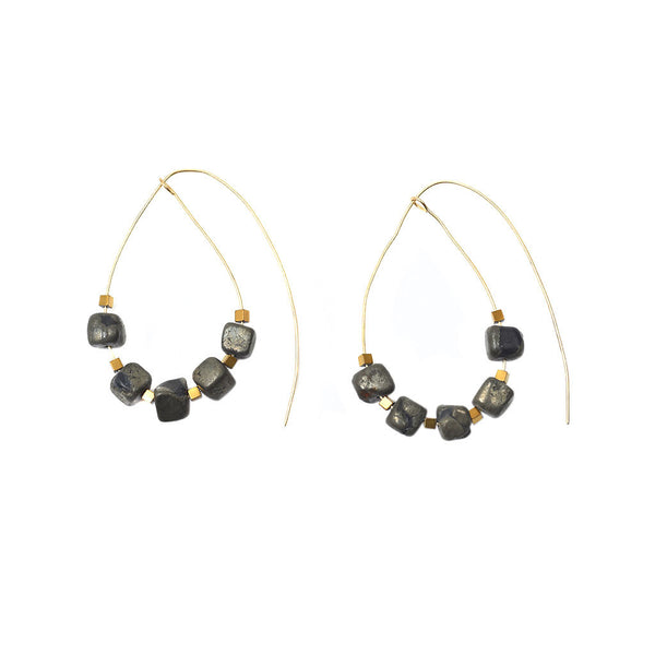 Hematite Brass Wire Earrings