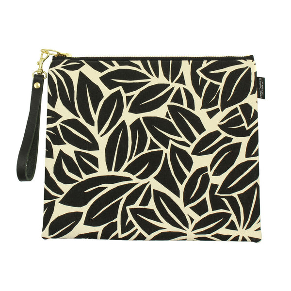 Leaf Canvas Clutch