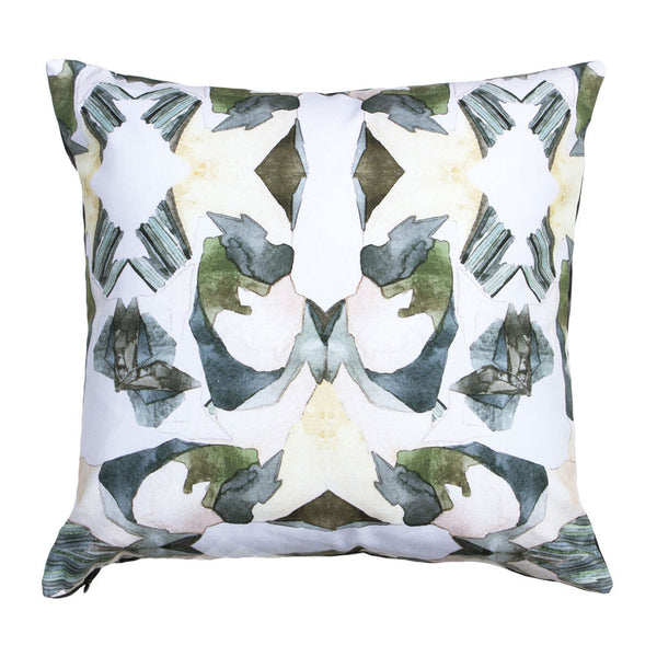 Spring Abstract Watercolor Pillow