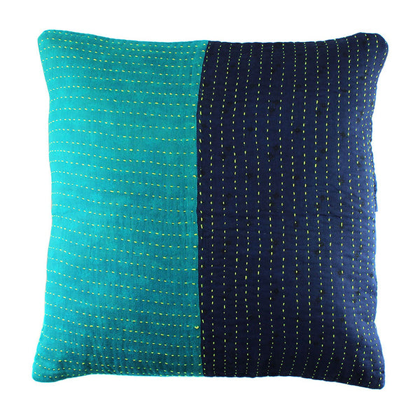 Teal and Indigo Pillow Cover