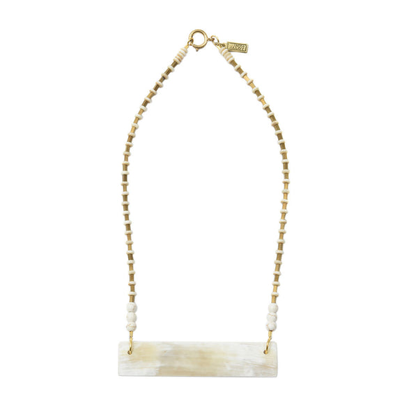 White Horn Crossbar Necklace